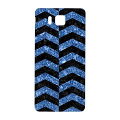 Chevron2 Black Marble & Blue Marble Samsung Galaxy Alpha Hardshell Back Case