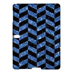 Chevron1 Black Marble & Blue Marble Samsung Galaxy Tab S (10 5 ) Hardshell Case