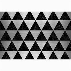 Triangle3 Black Marble & Silver Brushed Metal Collage 12  X 18