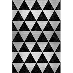 Triangle3 Black Marble & Silver Brushed Metal 5 5  X 8 5  Notebook