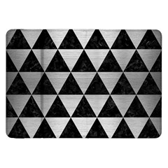 Triangle3 Black Marble & Silver Brushed Metal Samsung Galaxy Tab 8 9  P7300 Flip Case