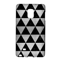 Triangle3 Black Marble & Silver Brushed Metal Samsung Galaxy Note Edge Hardshell Case