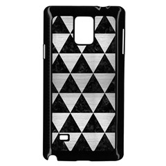 Triangle3 Black Marble & Silver Brushed Metal Samsung Galaxy Note 4 Case (black)