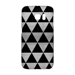 Triangle3 Black Marble & Silver Brushed Metal Samsung Galaxy S6 Edge Hardshell Case