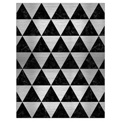Triangle3 Black Marble & Silver Brushed Metal Drawstring Bag (large)