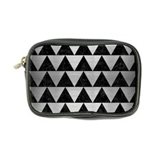 Triangle2 Black Marble & Silver Brushed Metal Coin Purse