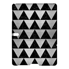 Triangle2 Black Marble & Silver Brushed Metal Samsung Galaxy Tab S (10 5 ) Hardshell Case