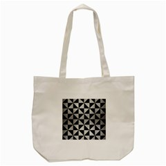 Triangle1 Black Marble & Silver Brushed Metal Tote Bag (cream)