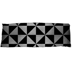 Triangle1 Black Marble & Silver Brushed Metal Body Pillow Case Dakimakura (two Sides)