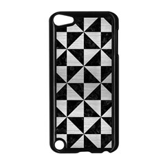 Triangle1 Black Marble & Silver Brushed Metal Apple Ipod Touch 5 Case (black)