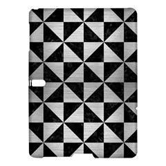 Triangle1 Black Marble & Silver Brushed Metal Samsung Galaxy Tab S (10 5 ) Hardshell Case