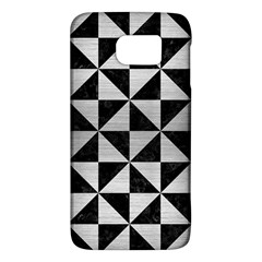 Triangle1 Black Marble & Silver Brushed Metal Samsung Galaxy S6 Hardshell Case