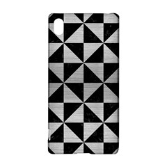 Triangle1 Black Marble & Silver Brushed Metal Sony Xperia Z3+ Hardshell Case