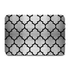 Tile1 Black Marble & Silver Brushed Metal (r) Plate Mat