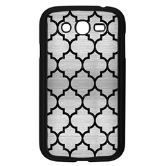 Tile1 Black Marble & Silver Brushed Metal (r) Samsung Galaxy Grand Duos I9082 Case (black)