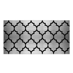 Tile1 Black Marble & Silver Brushed Metal (r) Satin Shawl
