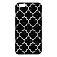 Tile1 Black Marble & Silver Brushed Metal Iphone 6 Plus/6s Plus Tpu Case