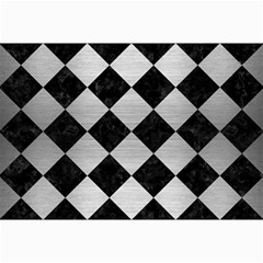 Square2 Black Marble & Silver Brushed Metal Collage 12  X 18