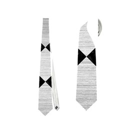Square2 Black Marble & Silver Brushed Metal Necktie (one Side)
