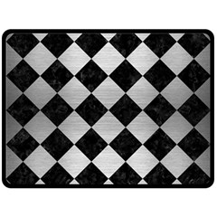 Square2 Black Marble & Silver Brushed Metal Double Sided Fleece Blanket (large)
