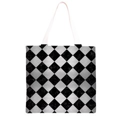 SQR2 BK MARBLE SILVER Grocery Light Tote Bag
