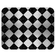 Square2 Black Marble & Silver Brushed Metal Double Sided Flano Blanket (medium)