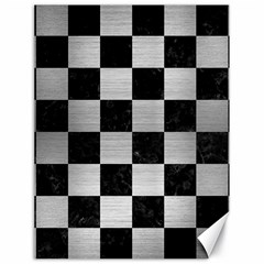 Square1 Black Marble & Silver Brushed Metal Canvas 18  X 24