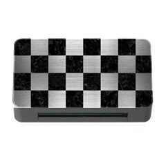 Square1 Black Marble & Silver Brushed Metal Memory Card Reader With Cf
