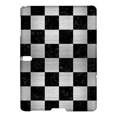 Square1 Black Marble & Silver Brushed Metal Samsung Galaxy Tab S (10 5 ) Hardshell Case