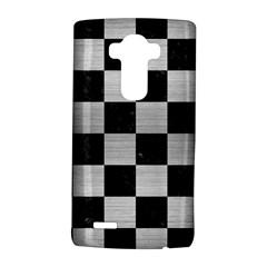 Square1 Black Marble & Silver Brushed Metal Lg G4 Hardshell Case