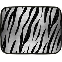 Skin3 Black Marble & Silver Brushed Metal (r) Fleece Blanket (mini)