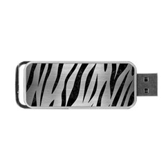 Skin3 Black Marble & Silver Brushed Metal (r) Portable Usb Flash (two Sides)