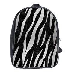 Skin3 Black Marble & Silver Brushed Metal School Bag (xl)