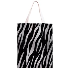 SKN3 BK MARBLE SILVER Classic Light Tote Bag