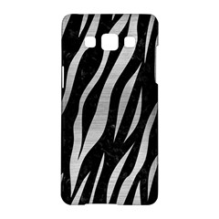 Skin3 Black Marble & Silver Brushed Metal Samsung Galaxy A5 Hardshell Case