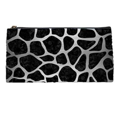 Skin1 Black Marble & Silver Brushed Metal (r) Pencil Case