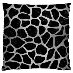 Skin1 Black Marble & Silver Brushed Metal (r) Standard Flano Cushion Case (two Sides)