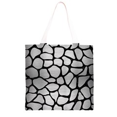 SKN1 BK MARBLE SILVER Grocery Light Tote Bag