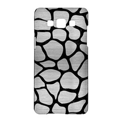 Skin1 Black Marble & Silver Brushed Metal Samsung Galaxy A5 Hardshell Case