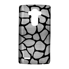Skin1 Black Marble & Silver Brushed Metal Lg G4 Hardshell Case