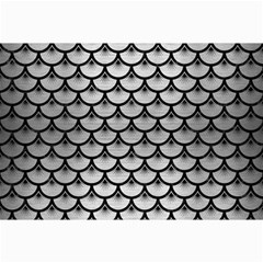 Scales3 Black Marble & Silver Brushed Metal (r) Collage 12  X 18