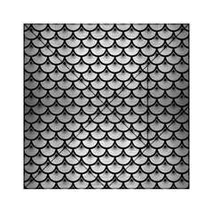 Scales3 Black Marble & Silver Brushed Metal (r) Acrylic Tangram Puzzle (6  X 6 )