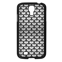 Scales3 Black Marble & Silver Brushed Metal (r) Samsung Galaxy S4 I9500/ I9505 Case (black)