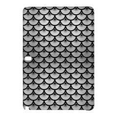 Scales3 Black Marble & Silver Brushed Metal (r) Samsung Galaxy Tab Pro 10 1 Hardshell Case