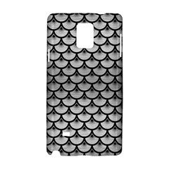 Scales3 Black Marble & Silver Brushed Metal (r) Samsung Galaxy Note 4 Hardshell Case