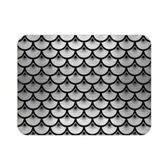 Scales3 Black Marble & Silver Brushed Metal (r) Double Sided Flano Blanket (mini)