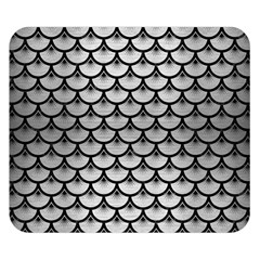 Scales3 Black Marble & Silver Brushed Metal (r) Double Sided Flano Blanket (small)