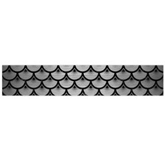 Scales3 Black Marble & Silver Brushed Metal (r) Flano Scarf (large)