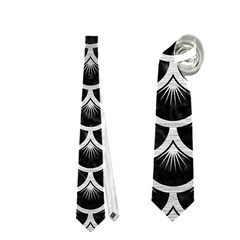 Scales3 Black Marble & Silver Brushed Metal Necktie (two Side)