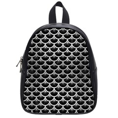 Scales3 Black Marble & Silver Brushed Metal School Bag (small)